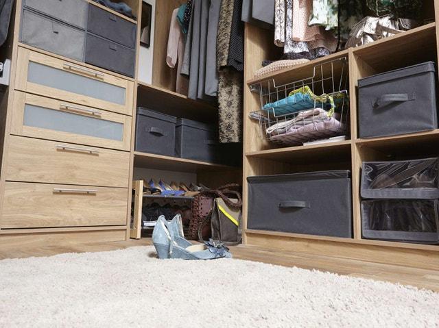 kit dressing effet ch ne monument cosy indus x x cm x p de la leroy merlin. Black Bedroom Furniture Sets. Home Design Ideas