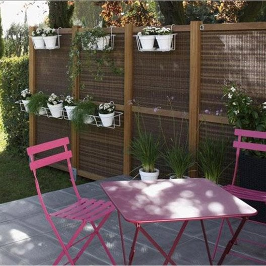 Salon de jardin bistro fermob rose 2 personnes leroy merlin - Table jardin rose ...