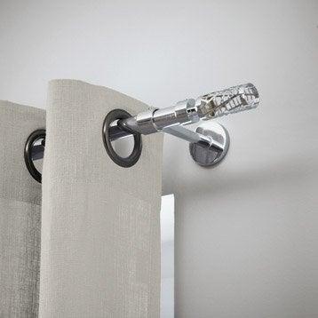 Tringle à rideau extensible City chromé brillant de 160 à 300 cm INSPIRE