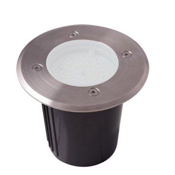 Spot à encastrer extérieur diam 12 cm acier inoxydable LUMIHOME