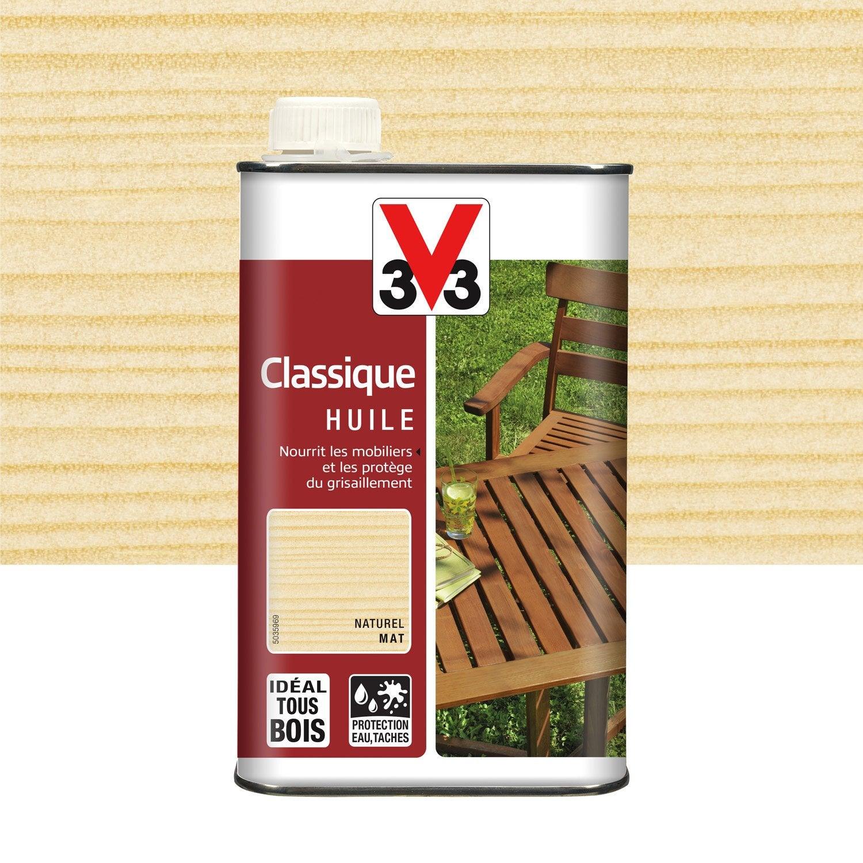Huile V33 Huile teck classique 1l naturel 1 l, naturel | Leroy Merlin