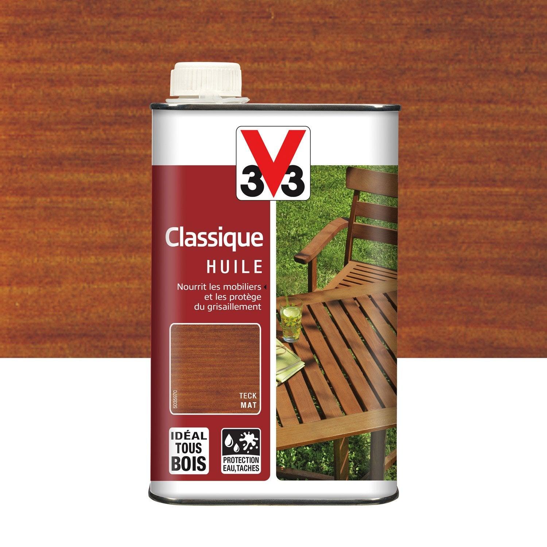 Huile V33 Huile teck classique 1l teck 1 l, teck | Leroy Merlin