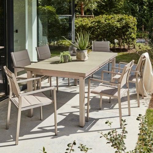 Salon de jardin table et chaise mobilier de jardin - Salon de jardin en pvc ...
