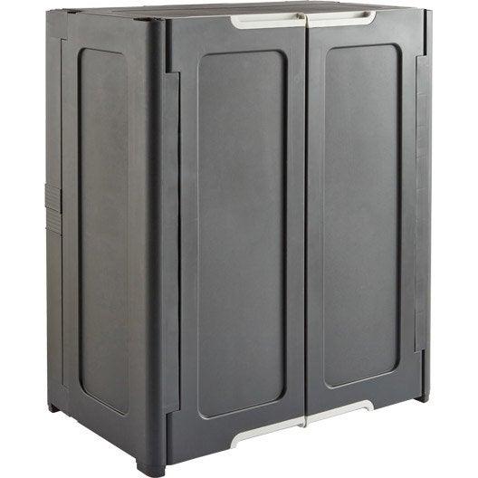 armoire basse r sine 1 tablette magix x x cm leroy merlin. Black Bedroom Furniture Sets. Home Design Ideas