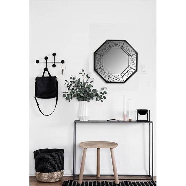 Miroir Géometrique filaire, noir, l.45 x H.45 cm