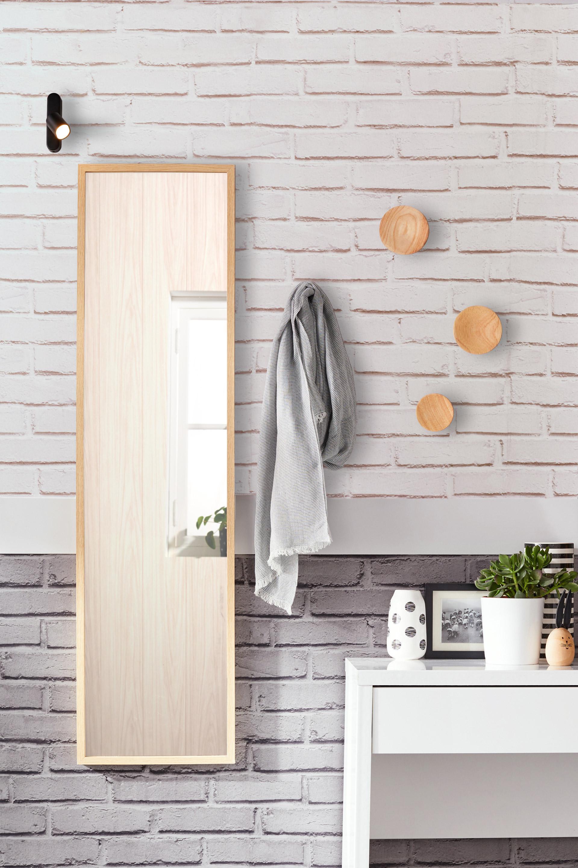 Miroir Milo INSPIRE, chêne, l.30 x H.120 cm