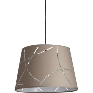 Suspension e design moove coton taupe x w mathias with suspension new york leroy merlin with suspension luminaire leroy merlin