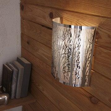 Applique design e14 Forest métal Chromé, 1 INSPIRE