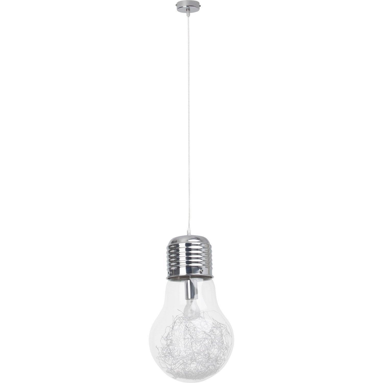suspension e27 design bulb verre transparent 1 x 60 w brilliant leroy merlin. Black Bedroom Furniture Sets. Home Design Ideas