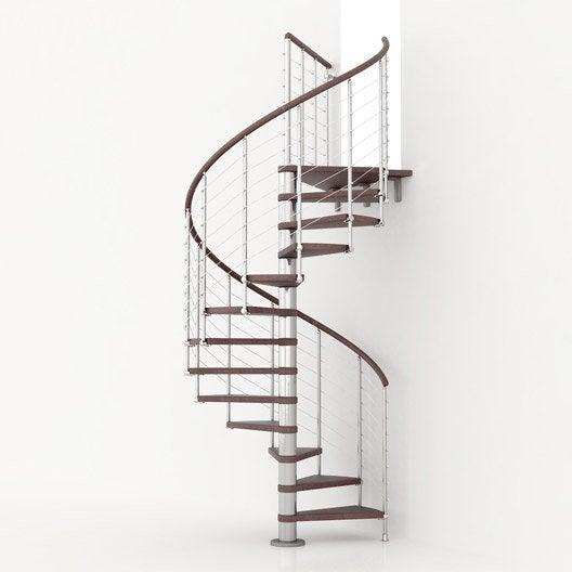 Escalier ring line pixima colima on rond en bois et m tal 13 marches lero - Largeur escalier colimacon ...