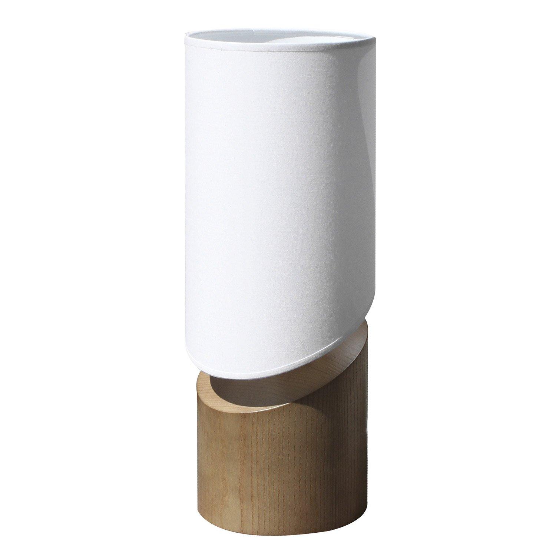 lampe e27 arthur metropolight coton sur pvc blanc 60 w leroy merlin. Black Bedroom Furniture Sets. Home Design Ideas