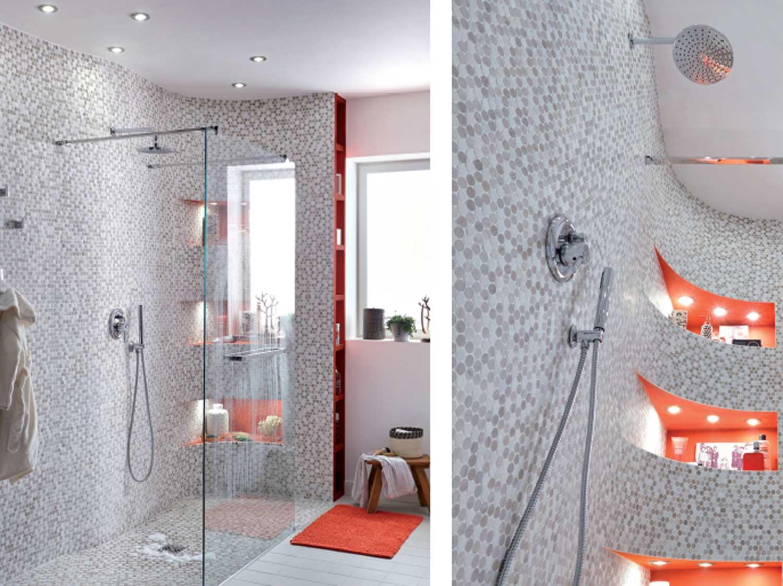 Comment réaliser une douche en courbe  ?