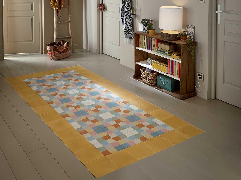 comment cr er un tapis en trompe l il leroy merlin. Black Bedroom Furniture Sets. Home Design Ideas
