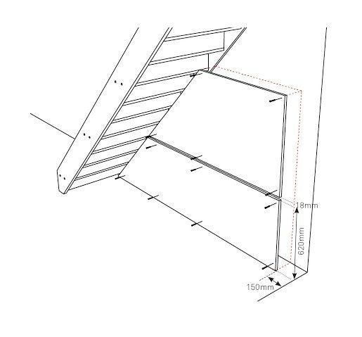 comment r aliser un bureau encastr sous un escalier leroy merlin. Black Bedroom Furniture Sets. Home Design Ideas