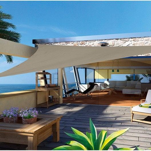 voile d ombrage 4x4 sunlax voile duombrage rectangular x mtres impermable et rsistante pour. Black Bedroom Furniture Sets. Home Design Ideas