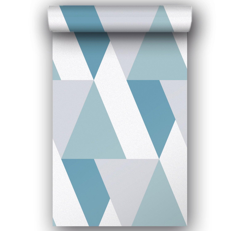 Papier peint vinyle sur intissé Motif Ari bleu