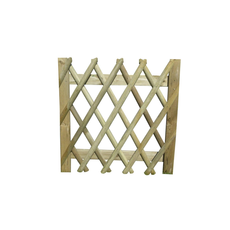 portillon bois primo naturel x cm leroy merlin. Black Bedroom Furniture Sets. Home Design Ideas
