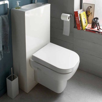 Bien choisir son wc suspendu leroy merlin for Porte sans bati