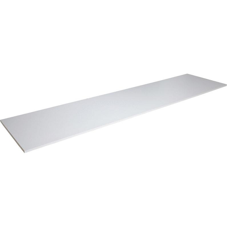 Tablette Prepercee Melamine Super Blanc Spaceo L 250 X L 50 Cm X Ep 18 Mm Les B Leroy Merlin