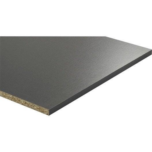 tablette mélaminé béton gris-gris n°1, l.250 x l.50 cm x ep.18 mm