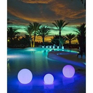 Boule décorative 40cm LED intégrée 3.25W = 220Lm, couleurs changeantes NEWGARDEN