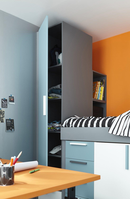 une colonne de rangement pour optimiser l 39 espace de votre chambre leroy merlin. Black Bedroom Furniture Sets. Home Design Ideas