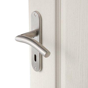 2 poignées de porte Margaud trou de clé, acier inoxydable, 165 mm