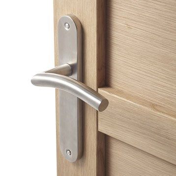 poign e de porte int rieure poign e chambre wc salle de bain bureau leroy merlin. Black Bedroom Furniture Sets. Home Design Ideas