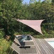 Voile d'ombrage triangle gris L.560 x l.400 cm