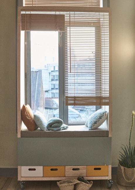 Un espace où le store aide à s'isoler le temps d'une sieste