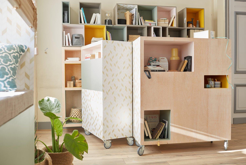un bureau mobiler pour travailler en toute simplicit leroy merlin. Black Bedroom Furniture Sets. Home Design Ideas