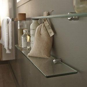 Accessoires et miroirs de salle de bains leroy merlin - Accessoire salle de bain bois ...