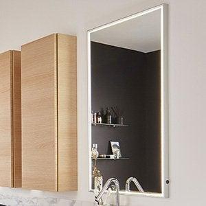 Accessoires et miroirs de salle de bains leroy merlin - Miroir etagere salle de bain ...
