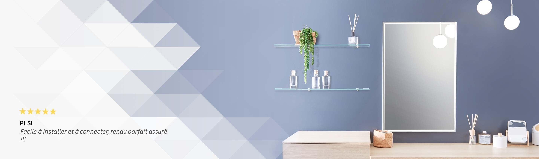 miroir connect salle de bain stunning enroulable porte. Black Bedroom Furniture Sets. Home Design Ideas