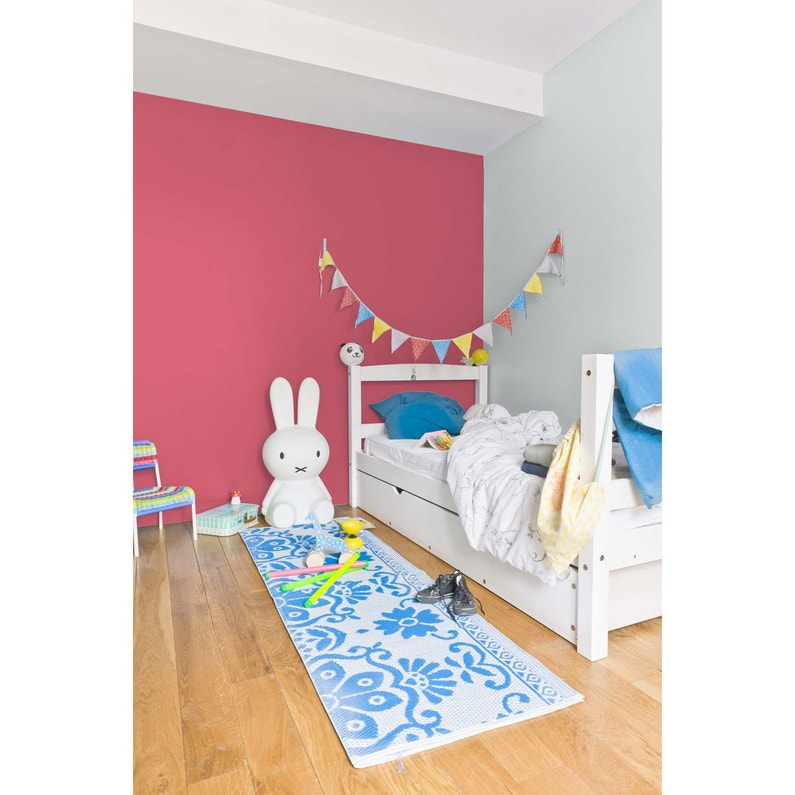 Peinture rose fushia satin RIPOLIN Chambre enfants 0.5 l | Leroy Merlin