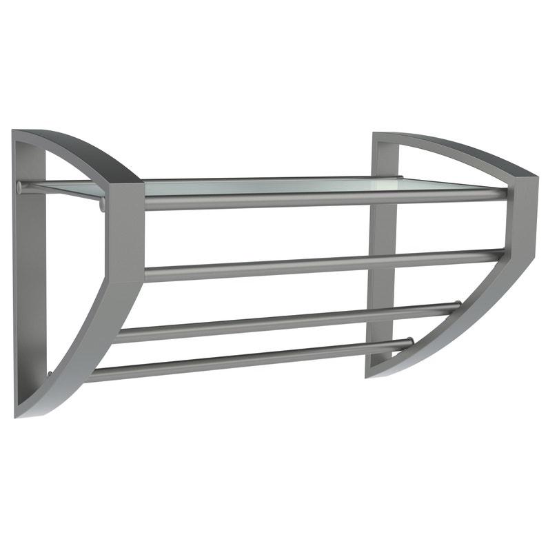Porte-serviettes 3 barres à fixer, Loft-game, gris ALLIBERT