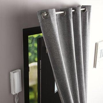 Barre à rideau pour porte Ib+ 100 cm pour rideau à œillets Diam. 20 mm