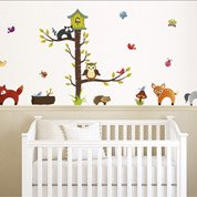 Sticker Forrest animals 50 cm x 70 cm