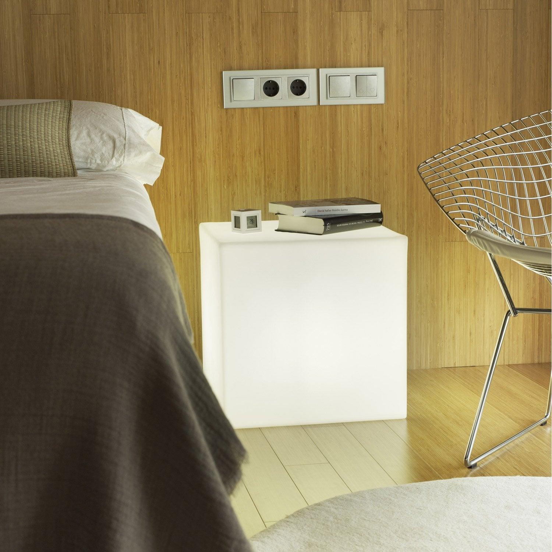 Génial Cube Décoratif Extérieur Cuby 45 Cm E27 25 W U003d 880 Lm, Blanc NEWGARDEN