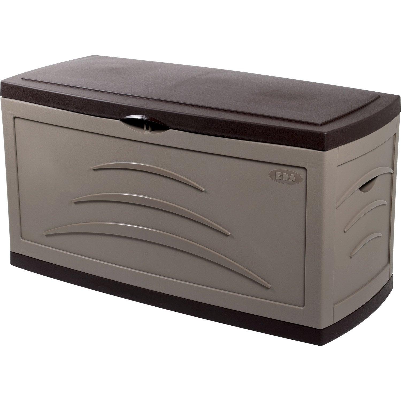 coffre de jardin r sine serena taupe x x cm leroy merlin. Black Bedroom Furniture Sets. Home Design Ideas