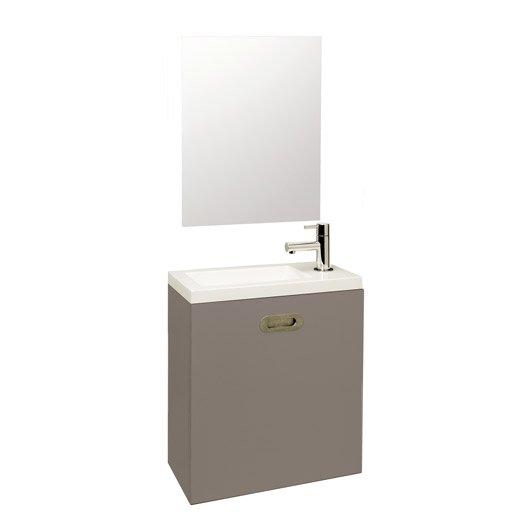 meuble lave mains avec miroir nerea gris galet n 3 leroy merlin. Black Bedroom Furniture Sets. Home Design Ideas