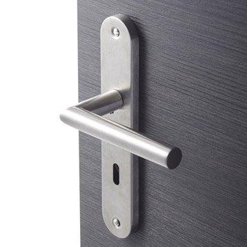 2 poignées de porte Sara trou de clé INSPIRE, acier inoxydable, 195 mm