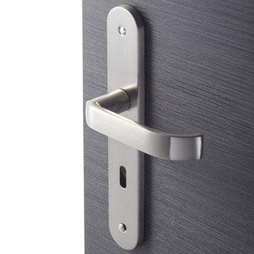 2 poignées de porte Lena trou de clé INSPIRE, zamak, 195 mm