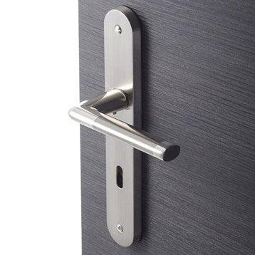 2 poignées de porte Sophie trou de clé, zamak, 195 mm