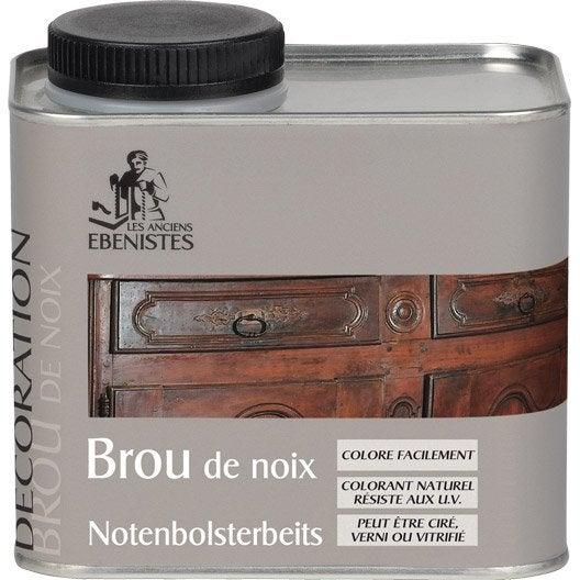 Brou de noix les anciens ebenistes 0 5 l brun leroy merlin - Brou de noix bois ...