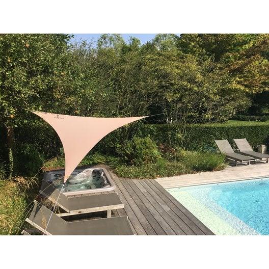 Toile Triangle Terrasse. Amazing Toile Pour Terrasse Avec Toiles De ...