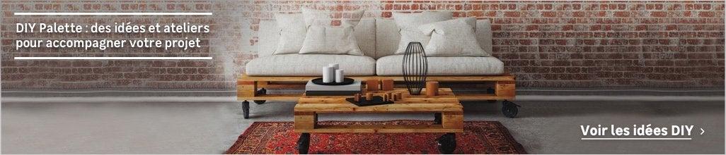 Palette et produit bois brut : pour réaliser ses meubles soi même au ...