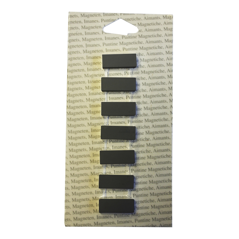 Lot De 7 Magnets Classic Rectangle, Noir L.8.9 X H.17.8 Cm