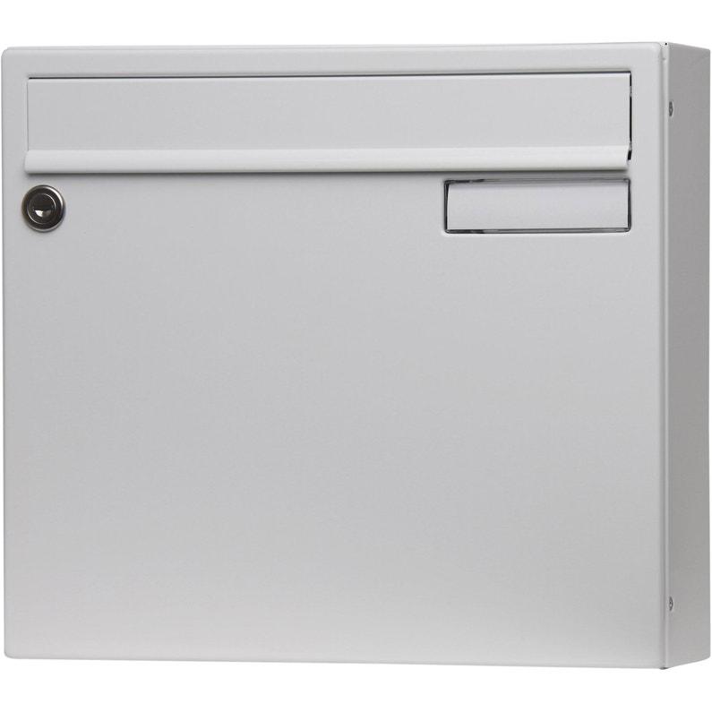 Boîte Aux Lettres Non Normalisée 1 Porte Extérieur Renz Saphir Acier Blanc