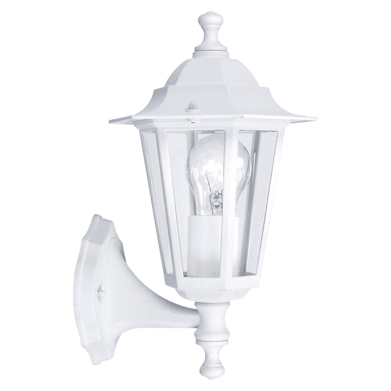 Applique montante extérieure Laterna E27 60 W, blanc EGLO